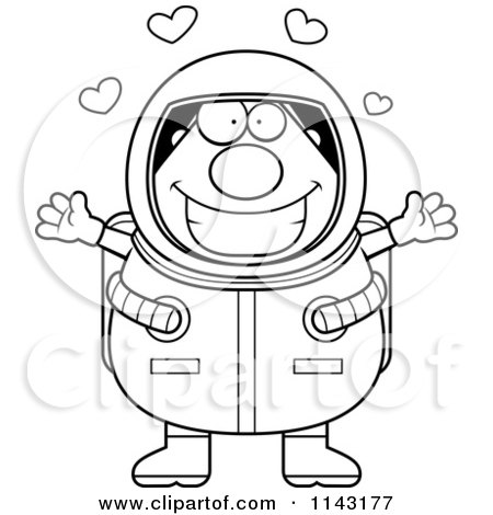 astronaut clip art black and white - photo #24