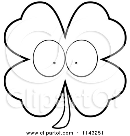 free printable shamrock coloring pages sketch template