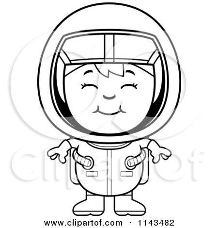Astronaut Girl Vector Outlined Coloring Page By Cory Thoman 1143482