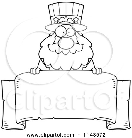 Uncle Sam Clipart Black And White And White Chubby Uncle Sam
