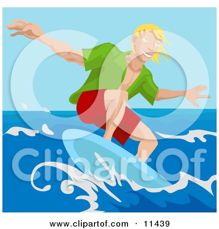 Young Surfer Dude Surf Boarding Posters, Art Prints