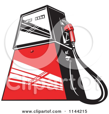 Royalty-Free (RF) Gas Pump Clipart, Illustrations, Vector Graphics #1
