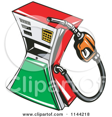Clipart of a Retro Gas Station Pump 1 - Royalty Free Vector Illustration by patrimonio
