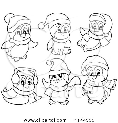 cute winter coloring pages - photo#33