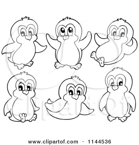 Penguin Clipart Black And White Png ↺ - Black And White Penguin Clipart,  Transparent Png - kindpng