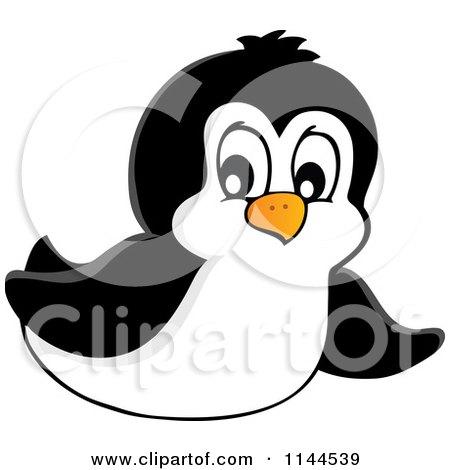Cute Little Penguin Sliding Posters, Art Prints