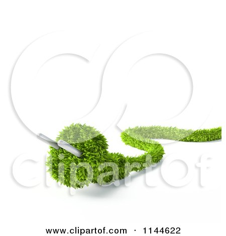 Clipart of a 3d Green Electrical Plug - Royalty Free CGI Illustration by Mopic