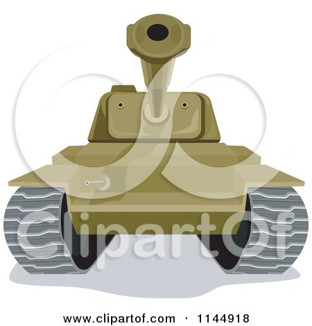 Clipart of a Military Tank 2 - Royalty Free Vector Illustration by patrimonio