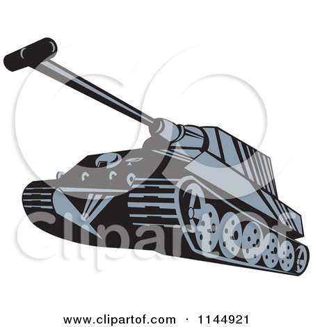 Clipart of a Military Tank 5 - Royalty Free Vector Illustration by patrimonio