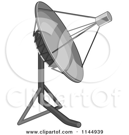 Clipart of a Satellite Dish - Royalty Free Vector Illustration by patrimonio