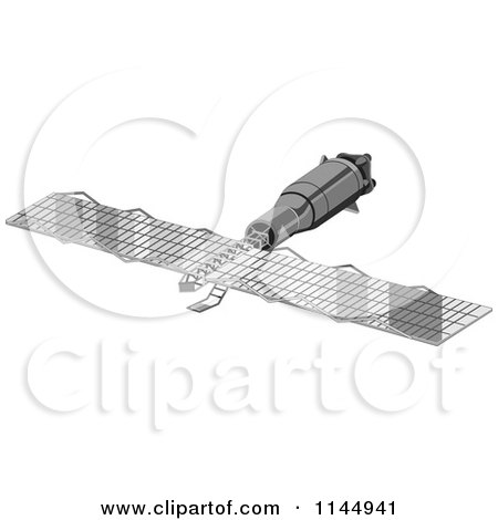 Clipart of a Space Satellite - Royalty Free Vector Illustration by patrimonio