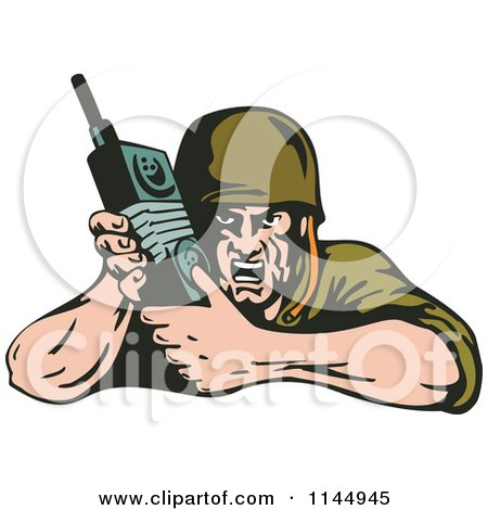 Army Clipart Clipart of an Army Soldier