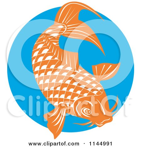 Blue koi fish clipart - photo#26