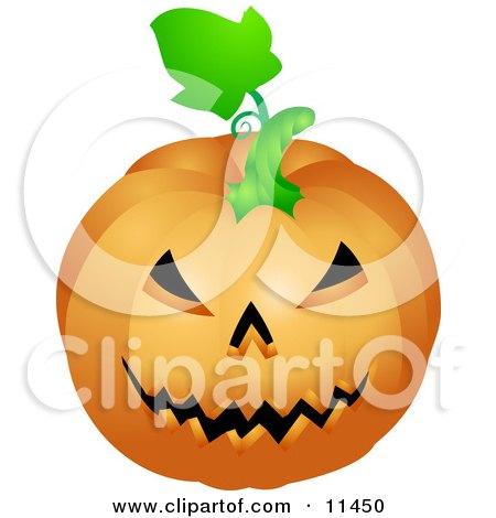 Evil Carved Jackolantern Halloween Pumpkin Clipart Illustration by AtStockIllustration
