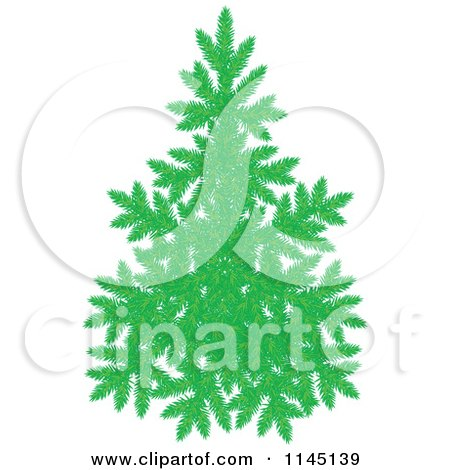Cartoon of an Evergreen Christmas Tree - Royalty Free Vector Clipart by Alex Bannykh
