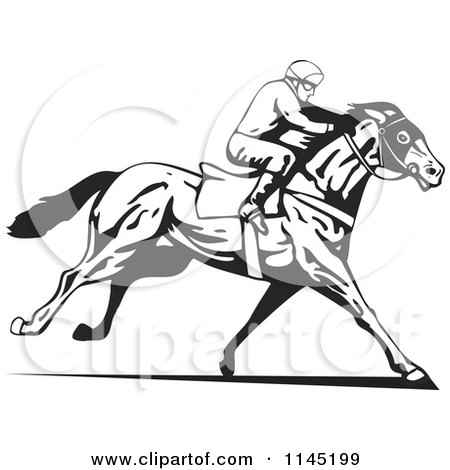 Royalty-Free (RF) Race Horse Clipart, Illustrations, Vector ...