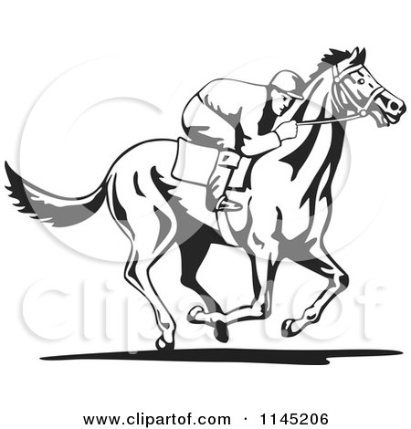 Horse clip art black and white