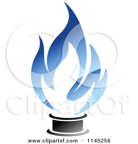 Clipart of a Stove Burner with Blue Gas Flames 4 - Royalty Free Vector Illustration by Vector Tradition SM