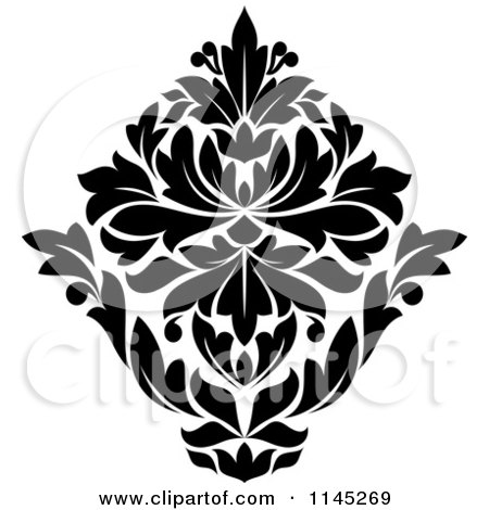 royalty free rf damask design elements clipart illustrations vector graphics 1. Black Bedroom Furniture Sets. Home Design Ideas