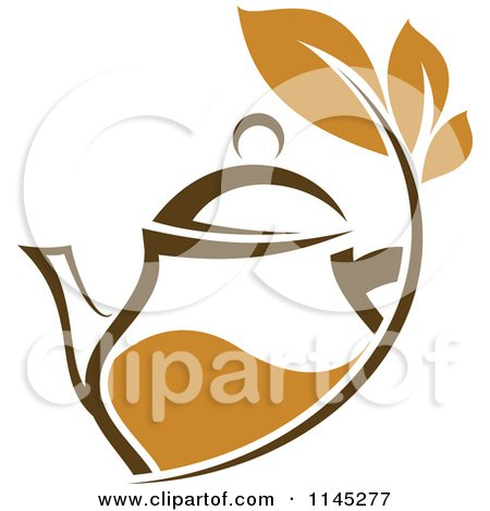 Clipart of a Cup of Green Tea or Coffee and a Leaf 9 - Royalty ...