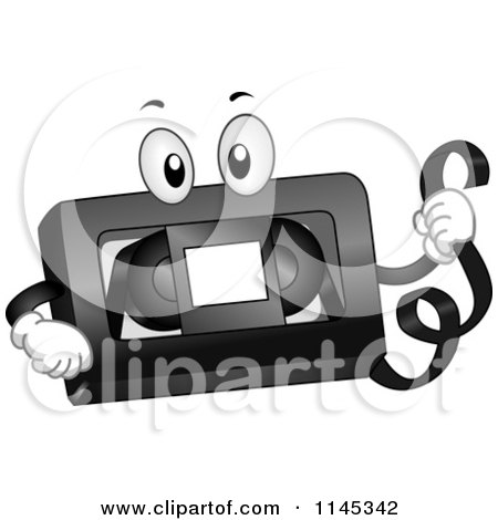 Cartoon of a VHS Tape Mascot - Royalty Free Vector Clipart by BNP Design Studio