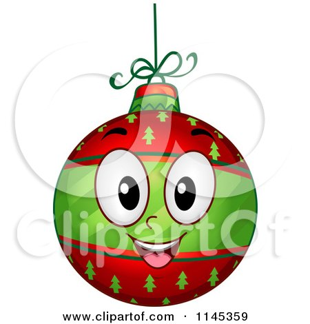 Cartoon of a Happy Christmas Bauble Mascot - Royalty Free Vector Clipart by BNP Design Studio