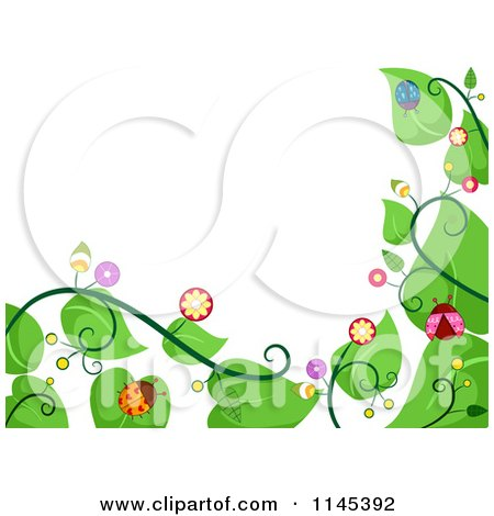 Cartoon of a Vine and Ladybug Border - Royalty Free Vector Clipart by BNP Design Studio