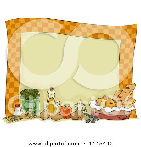 Clipart Of A Still Life Of Condiments And Spices Royalty