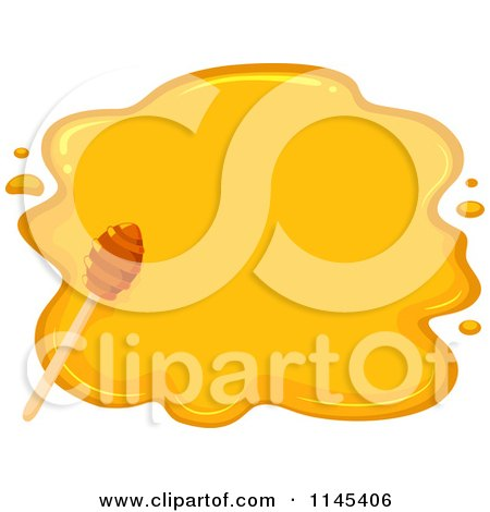 Cartoon of a Dipper over Honey - Royalty Free Vector Clipart by BNP Design Studio