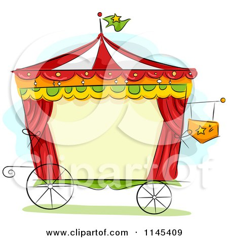 Cartoon Of A Circus Wagon Frame Royalty Free Vector Clipart
