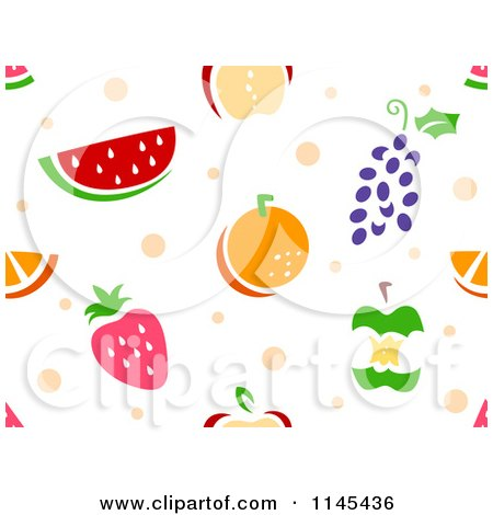 Cartoon of a Seamless Pattern of Fruits - Royalty Free Vector Clipart by BNP Design Studio