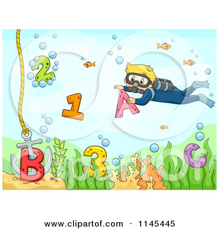 Royalty-Free (RF) Clipart Illustration of a Scuba Diver Couple by ...