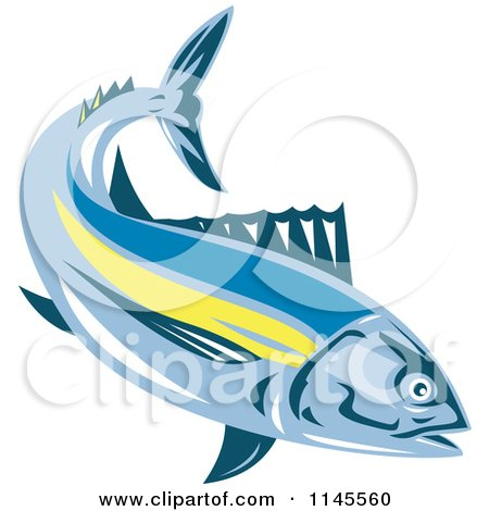 Clipart of an Albacore Tuna Fish - Royalty Free Vector Illustration by patrimonio