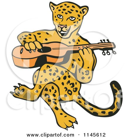 1145612-Clipart-Of-A-Guitarist-Jaguar-Ro
