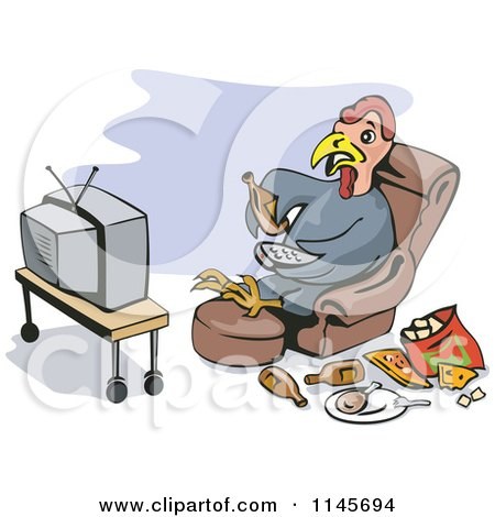 Royalty Free Rf Watching Tv Clipart Illustrations