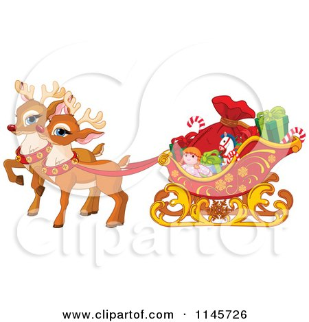 Royalty-Free (RF) Christmas Reindeer Clipart, Illustrations ...