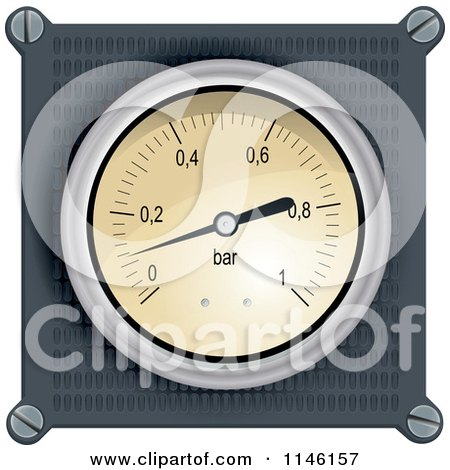 Clipart of a Dashboard Meter - Royalty Free Vector Illustration by Paulo Resende