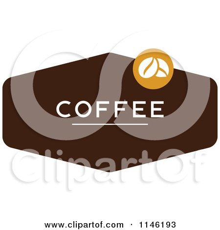 Clipart of a Brown Coffee Logo 2 - Royalty Free Vector Illustration by elena