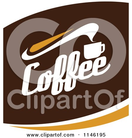 Clipart of a Brown Coffee Logo 4 - Royalty Free Vector Illustration by elena