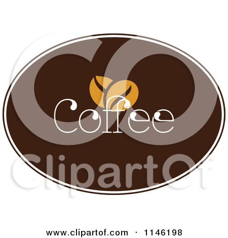 Clipart of a Brown Coffee Logo 7 - Royalty Free Vector Illustration by elena