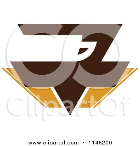 Clipart of a Brown Coffee Logo 9 - Royalty Free Vector Illustration by elena
