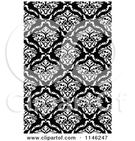 Black and White Damask With Green Accent | Truly Engaging Wedding Blog