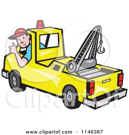 Tow Truck Driver Clip Art