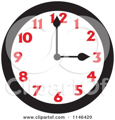 Royalty Free Rf Three O Clock Clipart Illustrations