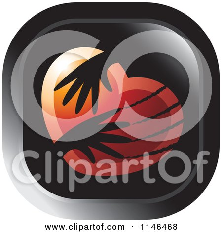 Clipart of a Violent Hands Scratching a Heart Icon - Royalty Free Vector Illustration by Lal Perera