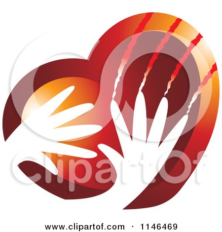 Clipart of a Violent Hands Scratching a Heart - Royalty Free Vector Illustration by Lal Perera