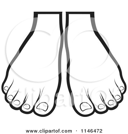 clipart of a pair of outlined feet royalty free vector rh clipartof com clip art footers clip art free images