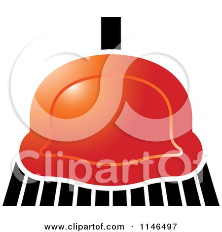 Clipart of a Red Sweeping Broom - Royalty Free Vector Illustration by Lal Perera