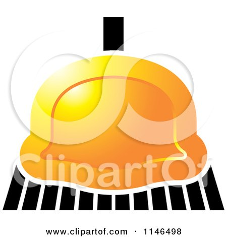 Clipart of a Golden Sweeping Broom - Royalty Free Vector Illustration by Lal Perera