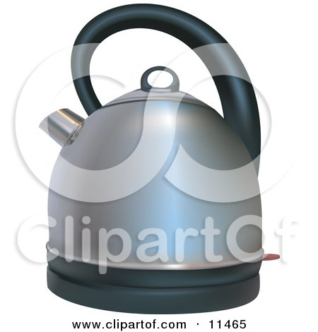Silver Coffee or Tea Kettle Clipart Illustration by AtStockIllustration